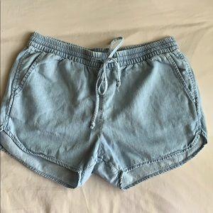 Gap Chambray shorts with drawstring waist